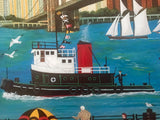 Beneath The Brooklyn Bridge Jane Wooster Scott Lithograph Print Artist Hand Signed and Numbered