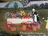 A Ride in the Country Jane Wooster Scott Lithograph Print Artist Hand Signed and Numbered