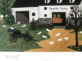 Sunday in New England Jane Wooster Scott Serigraph Print Artist Hand Signed and Numbered