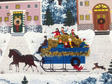 Holiday Sleigh Ride Jane Wooster Scott Artist Proof Serigraph Print Hand Signed and AP Numbered