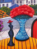 Terrace in the VII Fanch Ledan Canvas Giclee Print Artist Hand Signed and Numbered