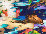 Swimming Ponies I Linnea Pergola Canvas Giclee Print Artist Hand Signed and Numbered