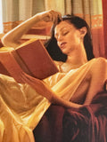 Reclined Read Carrie Graber Canvas Giclee Print Artist Hand Signed and Numbered