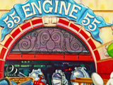 Engine 55 Manny Hernandez Mixed Media Print ArtistHand Signed and Numbered