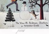 The View at Ardmore Junction Jane Wooster Scott Lithograph Print Artist Hand Signed and Numbered