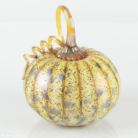 Jack Pine Hand Blown Glass Pumpkin Fine Art Sculpture Artist Hand Signed