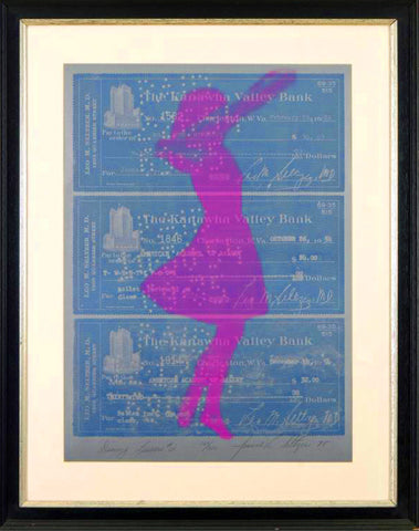 Dance Lesson #2 Joanne Seltzer Serigraph Print on Canvas Artist Hand Signed Numbered and Framed