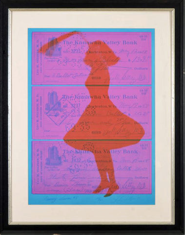 Dance Lesson #5 Joanne Seltzer Serigraph Print on Canvas Artist Hand Signed Numbered and Framed