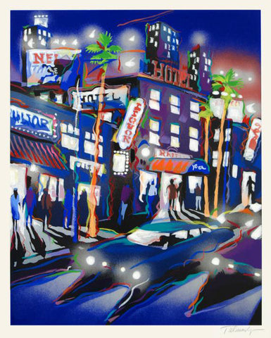 Hollywood Hotel James Talmadge Fine Art Serigraph Print Artist Hand Signed and Numbered