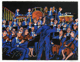 Concert in Blue James Talmadge Serigraph Print Artist Hand Signed and Numbered