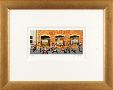 Window Shopping I John Wilson Fine Art Giclee Print Artist Hand Signed Numbered and Framed