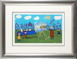 The Boating Lake John Wilson Giclee Framed Print Artist Hand Signed and Numbered