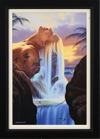 Island Dreams Jim Warren Canvas Giclee Print Artist Hand Signed Numbered and Framed