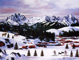 Sawtooth Mountain Splendor Jane Wooster Scott Lithograph Print Artist Hand Signed and Numbered