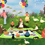 The Mothers Day Picnic Jane Wooster Scott Serigraph Print Artist Hand Signed and Numbered