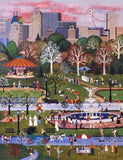 Springtime in Central Park Jane Wooster Scott Lithograph Print with Remarque Artist Hand Signed and Numbered