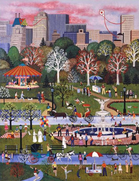 Springtime in Central Park Jane Wooster Scott Lithograph Print Artist Hand Signed and Numbered