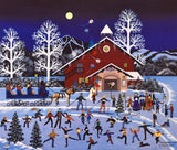 Moonlight Merriment Jane Wooster Scott Lithograph Print Artist Hand Signed and Numbered