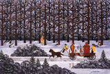 Dashing Through the Snow Jane Wooster Scott Lithograph Print Artist Hand Signed and Numbered