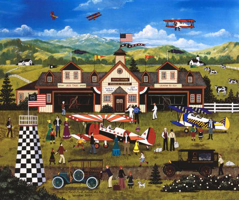 Franklin Fields First Annual Air Fair Jane Wooster Scott Lithograph Print Artist Hand Signed and Numbered