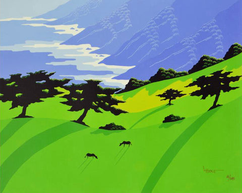 Hills of Fortune Larissa Holt Canvas Giclee Print Artist Hand Signed and Numbered