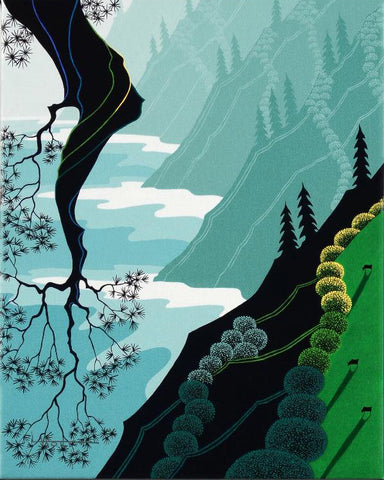 Coastal Fir Larissa Holt Canvas Giclee Print Numbered with Artist Authorized Signature