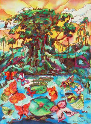 Butterfly Cove II Linnea Pergola Canvas Giclee Print Artist Hand Signed and Numbered