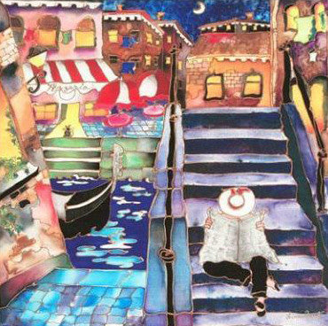 Venice Afternoon Linnea Pergola Fine Art Canvas Giclee Print Artist Hand Signed and Numbered