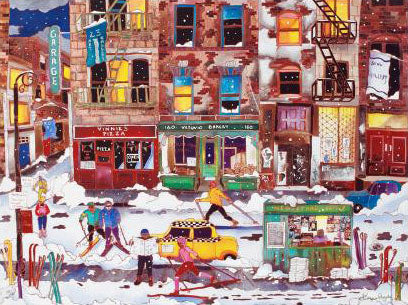 Winter in NYC Linnea Pergola Canvas Giclee Print Artist Hand Signed and Numbered