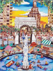 Summer in NYC Linnea Pergola Canvas Giclee Print Artist Hand Signed and Numbered