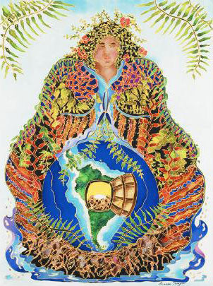 Earth Mother Linnea Pergola Canvas Giclee Print Artist Hand Signed and Numbered