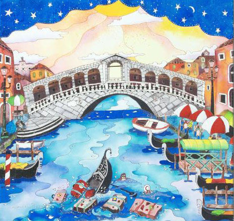 A Trip To Venice Linnea Pergola Fine Art Canvas Giclee Print Artist Numbered with Artist Authorized Signature