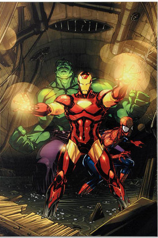 Secret Invasion 7 Marvel Comics Artist Leinil Francis Yu Fine Art Canvas Giclee Print Numbered