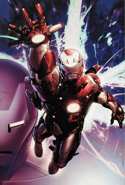 Invincible Iron Man 25 Marvel Comics Artist Salvador Larroca Canvas Giclee Print Numbered