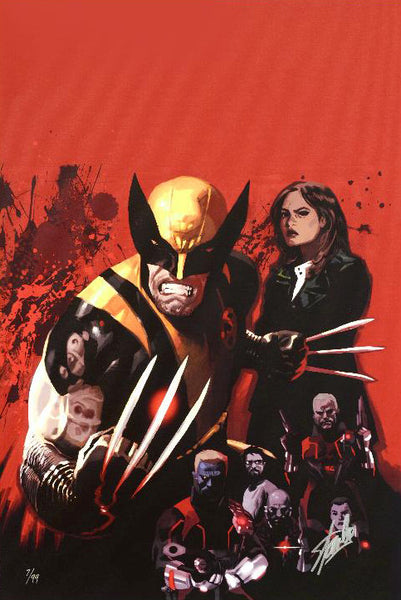 Fear Itself Wolverine 1 Marvel Comics Artist Daniel Acuna Canvas Giclee Print Numbered