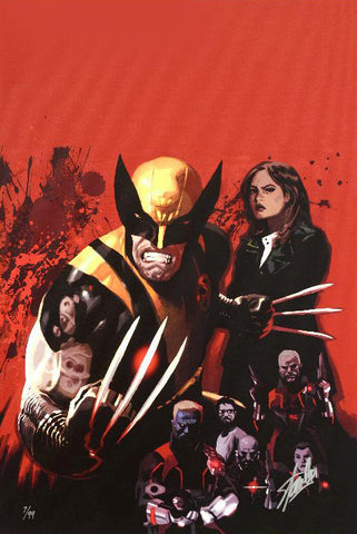 Fear Itself Wolverine 1 Marvel Comics Artist Daniel Acuna Fine Art Canvas Giclee Print Numbered