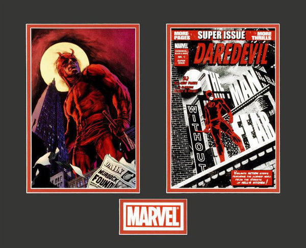 Daredevil Marvel Collector Covers Series Fine Art Lithocel Diptych Print Numbered and Matted