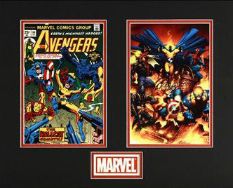 The Avengers Marvel Collector Covers Series Fine Art Lithocel Diptych Print Numbered and Matted