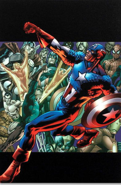 Captain America Man Out Of Time 5 Marvel Comics Artist Bryan Hitch Fine Art Canvas Giclee Print Numbered