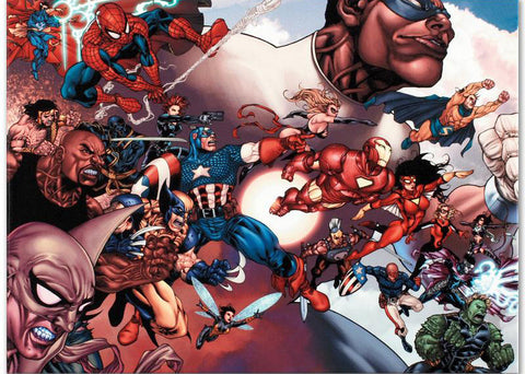 What If Civil War 1 Marvel Comics Artist Harvey Tolibao Fine Art Canvas Giclee Print Numbered
