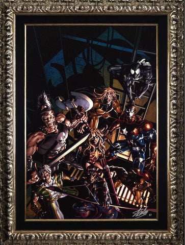 Dark Avengers 10 Marvel Comics Artist Mike Deodato Fine Art Canvas Giclee Print Stan Lee Signed and Numbered