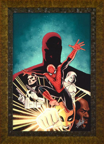 Shadowland 1 Marvel Comics Artist John Cassaday Artist Proof Canvas Giclee Artist Proof Print Stan Lee Hand Signed and AP Numbered