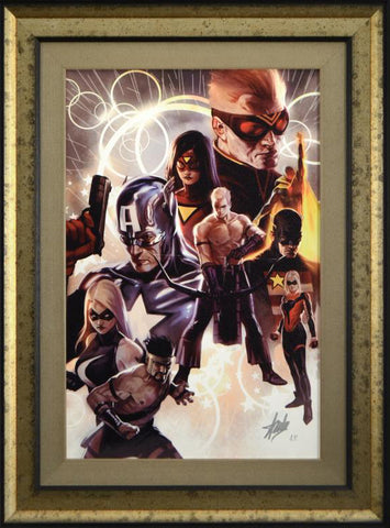 The Mighty Avengers #30 Marvel Comics Artist Marko Djurdjevic Fine Art Canvas Giclee Stan Lee Hand Signed Numbered and Framed