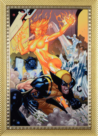 Secret Invasion X Men 4 Marvel Comics Artist Terry Dodson Fine Art Canvas Giclee Print Stan Lee Hand Signed and Numbered