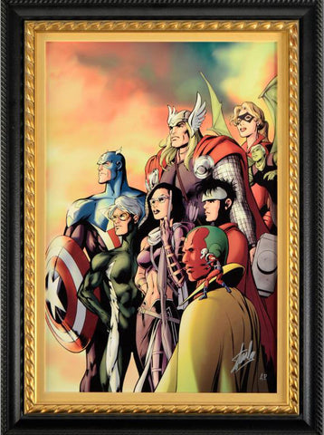I Am an Avenger 5 Marvel Comics Artist Alan Davis Artist Proof Fine Art Canvas Giclee Print Stan Lee Hand Signed and Numbered
