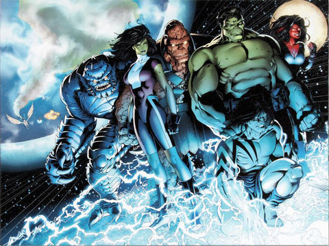 Incredible Hulks 615 Marvel Comics Artist Barry Kitson Fine Art Canvas Giclee Print Numbered