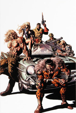 New Avengers 10 Marvel Comic Artist Mike Deodato Fine Art Canvas Giclee Print Numbered