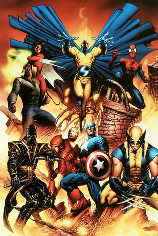 New Avengers 1 Marvel Comics Artist Joe Quesada Fine Art Canvas Giclee Print Numbered