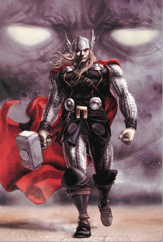 Astonishing Thor 5 Marvel Comics Artist Mike Choi Fine Art Canvas Giclee Print Numbered