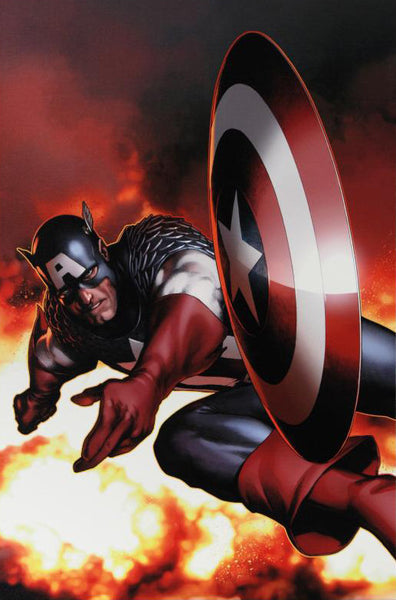 Captain America 2 Marvel Artist Steve McNiven Fine Art Canvas Giclee Print Numbered